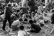 Children playing in the sand, Reclaim the Streets, Shepherd's Bush, London, July 1996