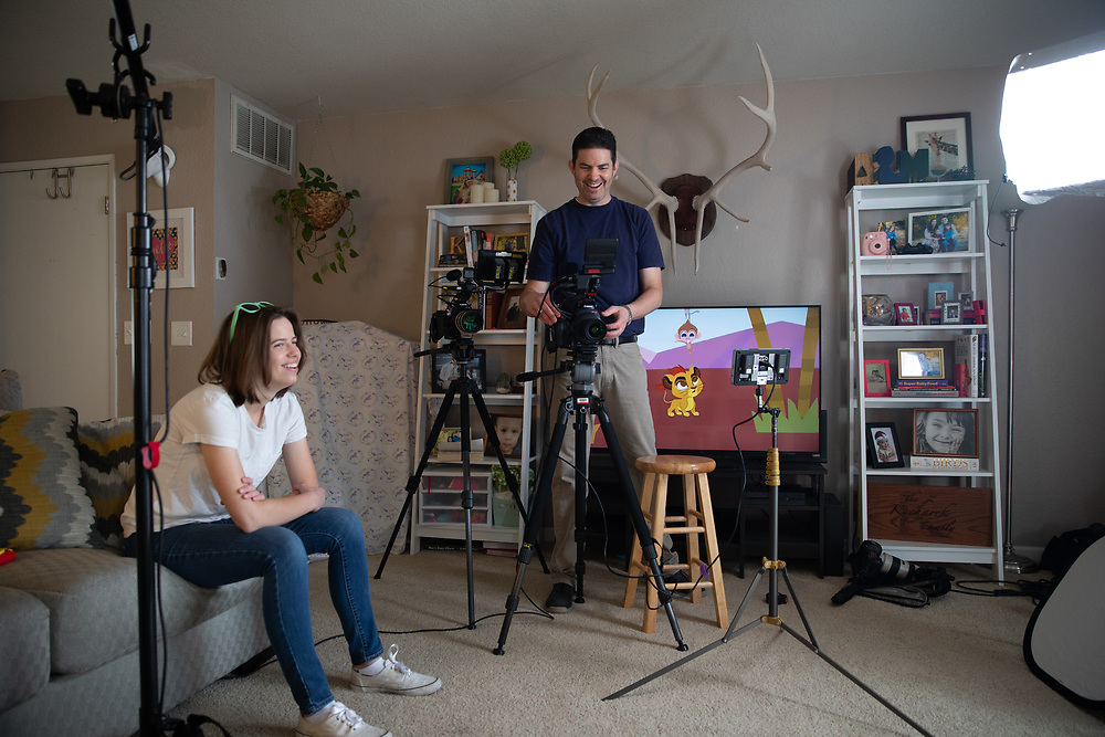 Michelle, Adam, and Sawyer Kucharek photograhed Saturday, April 21, 2018 in Roseville, Calif.