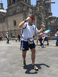 A Scotland fan in Mexico City ahead of the international friendly between Mexico and Scotland.