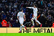 Leeds United midfielder Pablo Hernandez (19) scores a goal and celebrates to make the score 2-2 during the EFL Sky Bet Championship match between Leeds United and Millwall at Elland Road, Leeds, England on 28 January 2020.
