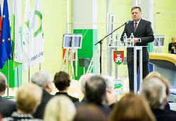 Zoran Jankovic, mayor of Ljubljana during Grand Opening of new Ljubljana Gymnastics centre Cerar-Pegan-Petkovsek, on November 26, 2015 in Ljubljana, Slovenia. Photo by Vid Ponikvar / Sportida