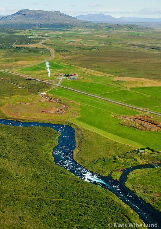 Fullsæll og Efri-Reykir séð til norðurs, Bláskógabyggð áður Biskupstungnahreppur /  Fullsaell and Efri-Reykir viewing north, Blaskogabyggd fortmert Biskupstungnahreppur.