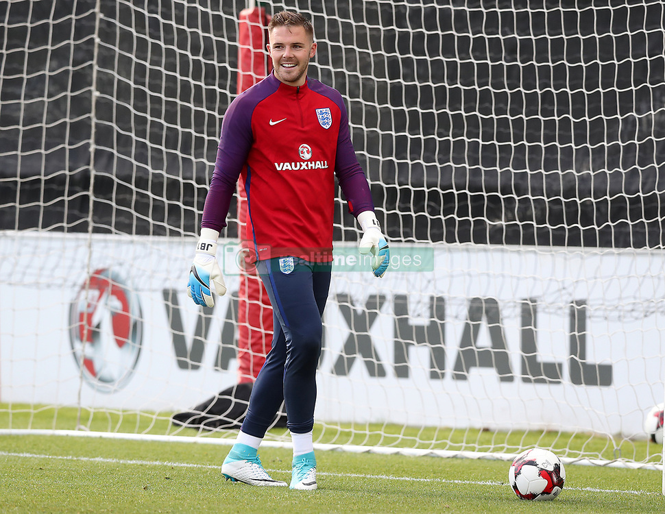 England's Jack Butland during the training session at St George's Park, Burton.