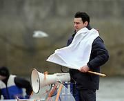 Putney, GREAT BRITAIN, 2008 umpire, John GARRETT, during the training race between Cambridge University and Canadian National Crew on. Fri. 22 Feb 2008.  Varsity Boat Race 2008. [Mandatory Credit, Peter Spurrier/Intersport-images] Varsity Boat Race, Rowing Course: River Thames, Championship course, Putney to Mortlake 4.25 Miles,