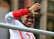 Nicola Adams during the Manchester Olympic Parade in Manchester, United Kingdom on 17 October 2016. Photo by Richard Holmes.