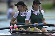 2002 FISA World Cup. Hazewinkel. BEL.       Friday  14/06/2002     .email images@Intersport-images.com.[Mandatory Credit: Peter Spurrier/Intersport Images]  .                                 /06/2002.Rowing. .RSA W2- .Rika GEYSER (b) , Colleen ORSMOND (s) Rowing, FISA WC.Hazenwinkel, BEL