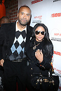 """l to r: Londell McMillan and Lil' Kim at The Russell Simmons and Spike Lee  co-hosted""""I AM C.H.A.N.G.E!"""" Get out the Vote Party presented by The Source Magazine and The HipHop Summit Action Network held at Home on October 30, 2008 in New York City"""
