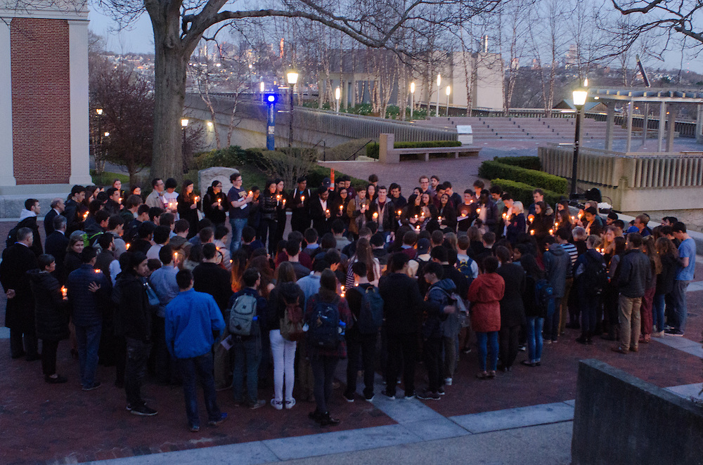 2016-04-14-Medford/Somerville-Tufts University-Goddard Chapel-Tufts community members gathered at Goddard Chapel on April 14, 2016 to celebrate the life of Alex Bhak (LA '19) who passed away on April 1 (Alex Knapp / The Tufts Daily).