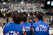 March 13, 2015 - New York, NY. Students ages 6 to 18 from the tri-state area and overseas compete at the FIRST Robotics New York City Regional Competition at the Jacob Javits Center. Winners will go to the national championships in April. 03/13/2015 Photograph by Allegra Abramo