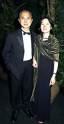 Shoe designer JIMMY CHOO and his wife REBECCA, at a gala evening in London on 14th September 2000.OGX 41