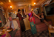 Traditional Thai dancing, aboard the E&O Express , Kanchanaburi, Thailand