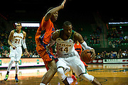 WACO, TX - JANUARY 3: Cory Jefferson #34 of the Baylor Bears drives to the basket against the Savannah State Tigers on January 3, 2014 at the Ferrell Center in Waco, Texas.  (Photo by Cooper Neill) *** Local Caption *** Cory Jefferson
