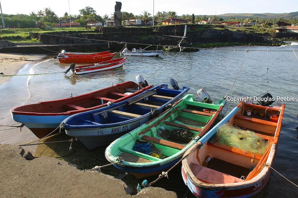 Fishing boats, Easter Island (Rapa Nui), Chile<br />