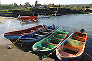 Fishing boats, Easter Island (Rapa Nui), Chile<br />