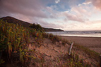 The sky bursts with colour producing spectacular sunsets at Wilsons Promontory, Australia.