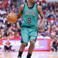 08 January 2014: Boston Celtics small forward Jeff Green (8) brings the ball upcourt during the Los Angeles Clippers 111-105 victory over the Boston Celtics at the Staples Center, Los Angeles, California, USA.