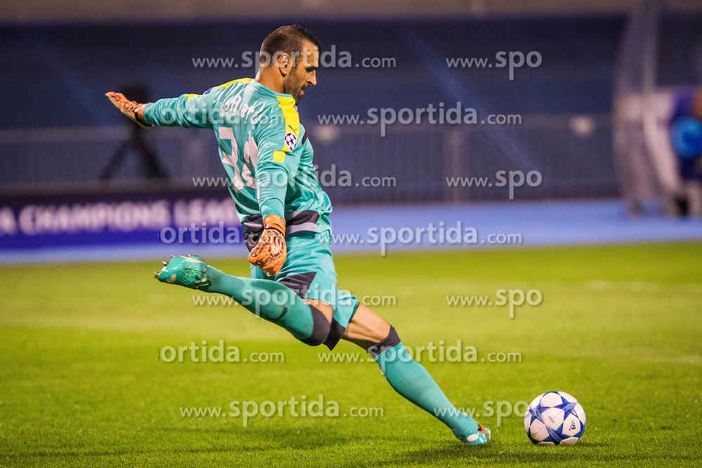 Eduardo Carvalho #24 of GNK Dinamo Zagreb during football match between GNK Dinamo Zagreb, CRO and Arsenal FC, ENG in Group F of Group Stage of UEFA Champions League 2015/16, on September 16, 2015 in Stadium Maksimir, Zagreb, Croatia. Photo by Ziga Zupan / Sportida