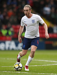 England U21's Tom Davies during the UEFA European U21 Championship Qualifying, Group 4 match at Bramall Lane, Sheffield. PRESS ASSOCIATION Photo. Picture date: Tuesday March 27, 2018. See PA story SOCCER England U21. Photo credit should read: Mike Egerton/PA Wire. RESTRICTIONS: Use subject to FA restrictions. Editorial use only. Commercial use only with prior written consent of the FA. No editing except cropping.