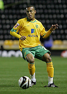 Derby - Tuesday October 28th, 2008: Ryan Bertrand of Norwich City in action during the Coca Cola Championship match against Derby County at Pride Park, Derby. (Pic by Michael Sedgwick/Focus Images)