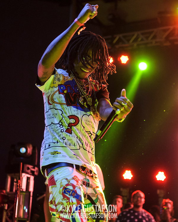 """WASHINGTON, DC - August 23rd, 2014 - Quavo and Takeoff of Atlanta rap trio Migos perform at the 3rd annual Trillectro Music Festival at RFK Stadium in Washington, D.C. The group is known for their singles """"Versace"""" and """"Hannah Montana."""" (Photo by Kyle Gustafson / For The Washington Post)"""