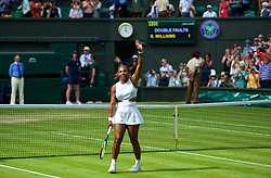 LONDON, ENGLAND - Thursday, July 11, 2019: Serena Williams (USA) celebrates after the Ladies' Singles semi-final match on Day Ten of The Championships Wimbledon 2019 at the All England Lawn Tennis and Croquet Club. Williams won 6-1, 6-2. (Pic by Kirsten Holst/Propaganda)