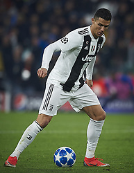 November 27, 2018 - Turin, Italy - Cristiano Ronaldo of Juventus in action during the UEFA Champions League match between Juventus and Valencia CF at Allianz Juventus Stadium  in Turin, Italy on November 27, 2018  (Credit Image: © Jose Breton/NurPhoto via ZUMA Press)