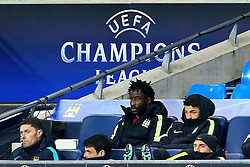 A glum looking Wilfried Bony of Manchester City sits on the bench - Mandatory byline: Matt McNulty/JMP - 15/03/2016 - FOOTBALL - Etihad Stadium - Manchester, England - Manchester City v Dynamo Kyiv - Champions League - Round of 16