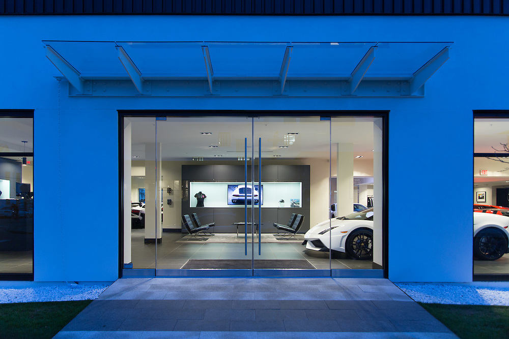 Lamborghini showroom and dealership | Armoury District, Vancouver, BC