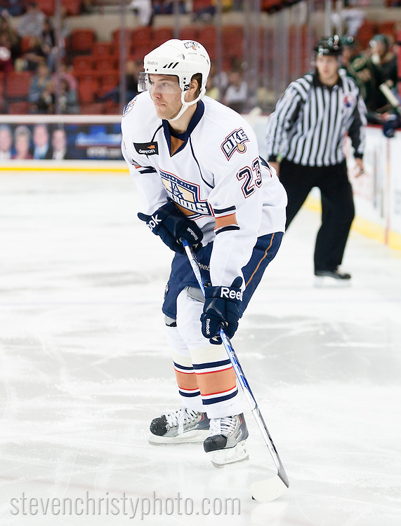 November 6, 2010: The Oklahoma City Barons play the Houston Aeros in an American Hockey League game at the Cox Convention Center in Oklahoma City.