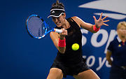 Garbine Muguruza of Spain in action during her second round match at the 2018 US Open Grand Slam tennis tournament, at Billie Jean King National Tennis Center in Flushing Meadow, New York, USA, August 29th 2018, Photo Rob Prange / SpainProSportsImages / DPPI / ProSportsImages / DPPI