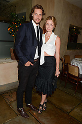 JAMES ROUSSEAU and ANNABELLE WALLIS at an evening of Dinner & Dancing at Daphne's, 112 Draycott Avenue, London SW3 on 24th July 2013.