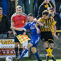 Picture by Christian Cooksey/CookseyPix.com.<br /> All rights reserved. For full terms and conditions see www.cookseypix.com<br /> <br /> Juniors - Auchinleck Talbot v Glenafton Athletic. Auchinleck's Keir Milliken battles with Glenafton's Jamie McGeoghegan