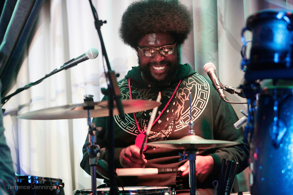 22 June-New York, NY-  Questlove performs at the Mo' Meta Blues II Paid in Full 25th Anniversary with Rakim, Black Thought & The Roots Produced by Jill Newman Productions as part of the Blue Note Jazz Festival and held at the Blue Note on June 22, 2011 in New York City. Photo Credit: Terrence Jennings