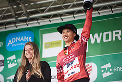 Coryn Rivera (USA) retains the sprint jersey at OVO Energy Women's Tour 2018 - Stage 4, a 130 km road race from Evesham to Worcester, United Kingdom on June 16, 2018. Photo by Sean Robinson/velofocus.com
