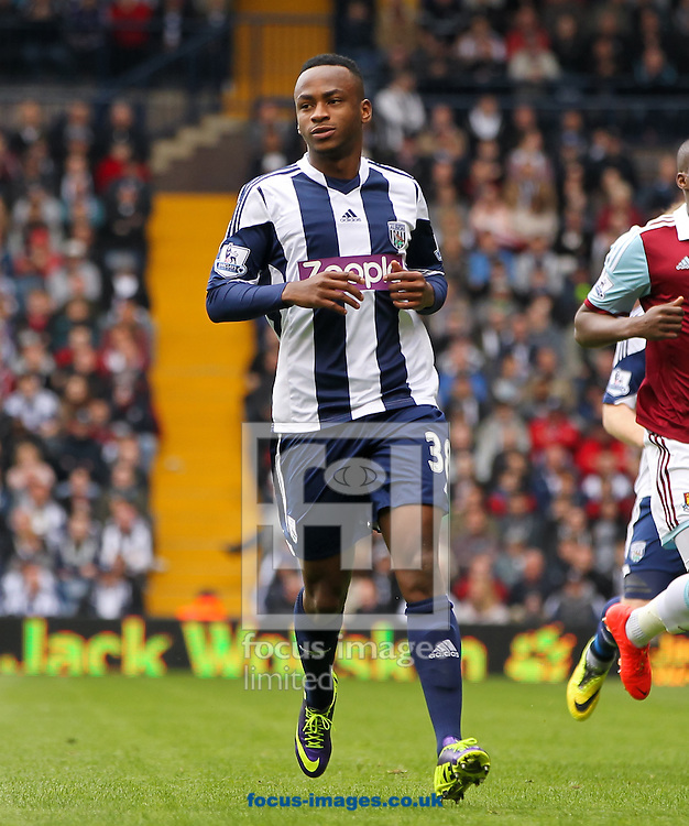 Saido Berahino of West Bromwich Albion during the Barclays Premier League match at The Hawthorns, West Bromwich<br /> Picture by Tom Smith/Focus Images Ltd 07545141164<br /> 26/04/2014
