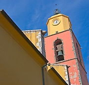 Church steeple in Saint Tropez, France