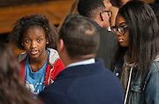 Houston area business professionals meet with students at Madison High School, November 20, 2015.