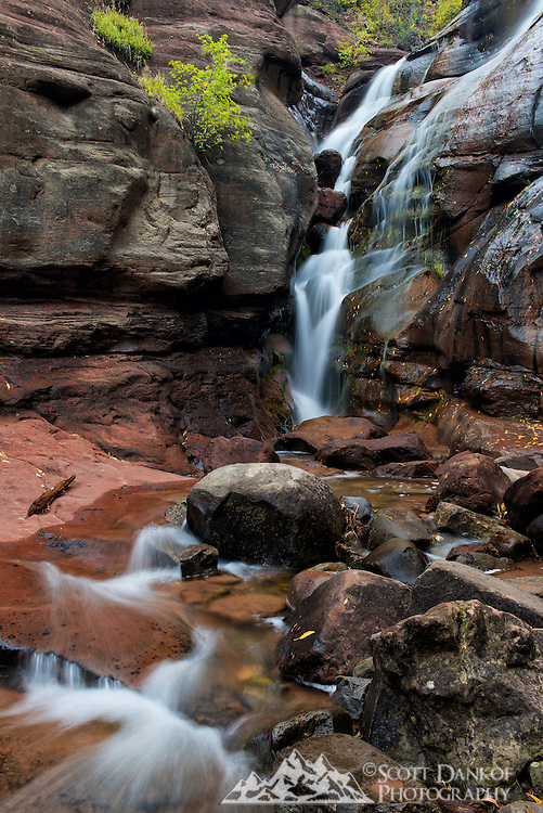 Hayes Creek Falls is a roadside waterfall near Redstone, Colorado.