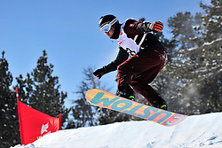 Snowboarder Cross Action, SCHETT Reinhold, AUT at the 2016 IPC Snowboard Europa Cup Finals and World Cup