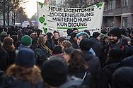 Berlin, Germany - 09.01.2016 <br /> <br /> Up to 1,000 people took part in a protest march for the rescue of the left scene store M99 and for other leftist projects. At the end of the demonstration several protestors get arrested.<br /> <br /> Bis zu 1000 Menschen beteiligten sich an einer Demonstration f&uuml;r den Erhalt des linken Szeneladens M99 sowie fuer andere linke Projekte. Am Ende der Demonstration kam es zu mehrere Festnahmen.<br /> <br /> Photo: Bjoern Kietzmann