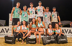 All medalist during the winner ceremotion of Beach volley National Championship of Slovenia , on July 25. 2020 in Kranj, Slovenia. Photo by Urban Meglič / Sportida
