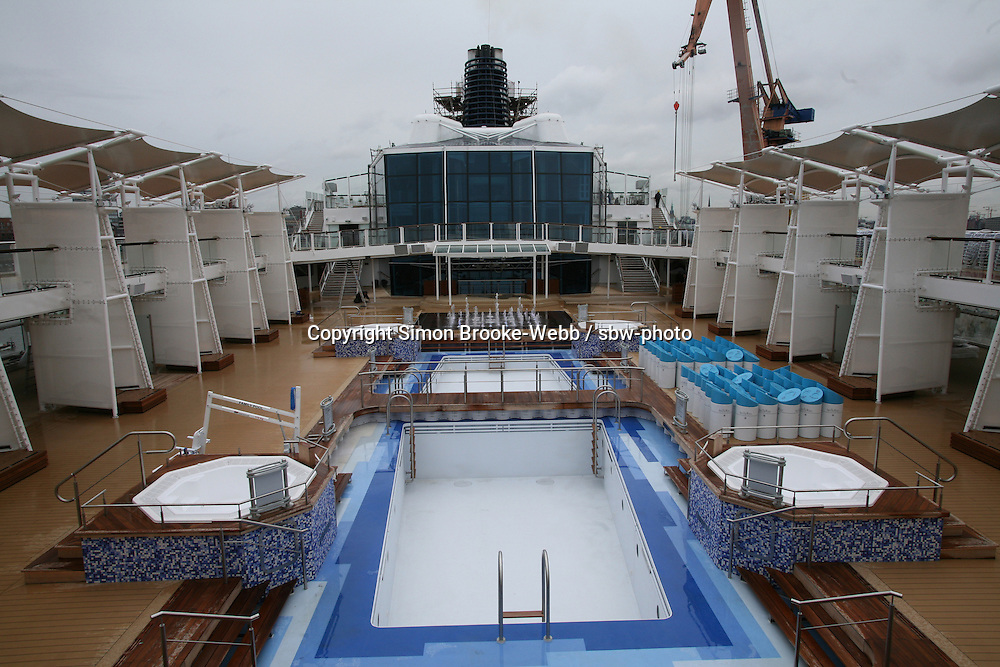 Celebrity Solstice in Hamburg..Pool area.