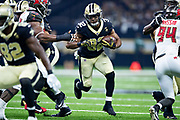 NEW ORLEANS, LA - SEPTEMBER 9:  Jonathan Williams #32 of the New Orleans Saints runs the ball during a game against the Tampa Bay Buccaneers at Mercedes-Benz Superdome on September 9, 2018 in New Orleans, Louisiana.  The Buccaneers defeated the Saints 48-40.  (Photo by Wesley Hitt/Getty Images) *** Local Caption *** Jonathan Williams