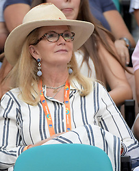 March 23, 2019 - Miami Gardens, Florida, United States Of America - MIAMI GARDENS, FLORIDA - MARCH 23:  Blaine Trump looks miserable in the bright light even with her shades on. Day 6 of the Miami Open Presented by Itau at Hard Rock Stadium on March 23, 2019 in Miami Gardens, Florida..People: Blaine Trump. (Credit Image: © SMG via ZUMA Wire)