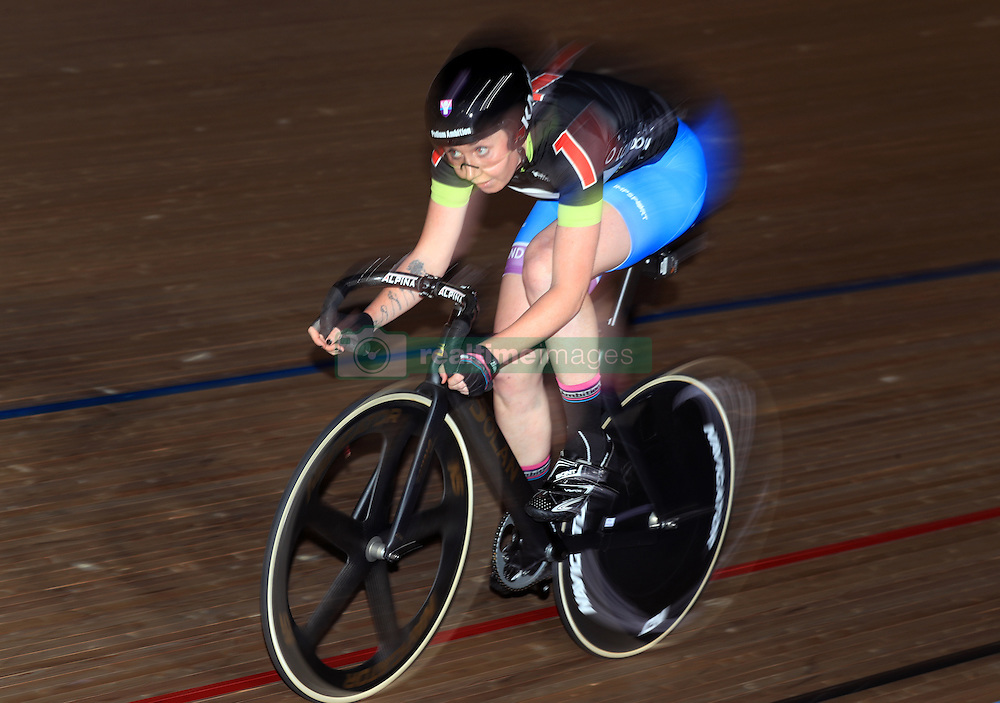 Great Britain's Katie Archibald competes in the Women's 30 Lap Scratch Race during day six of the Six Day Event at Lee Valley Velopark, London.