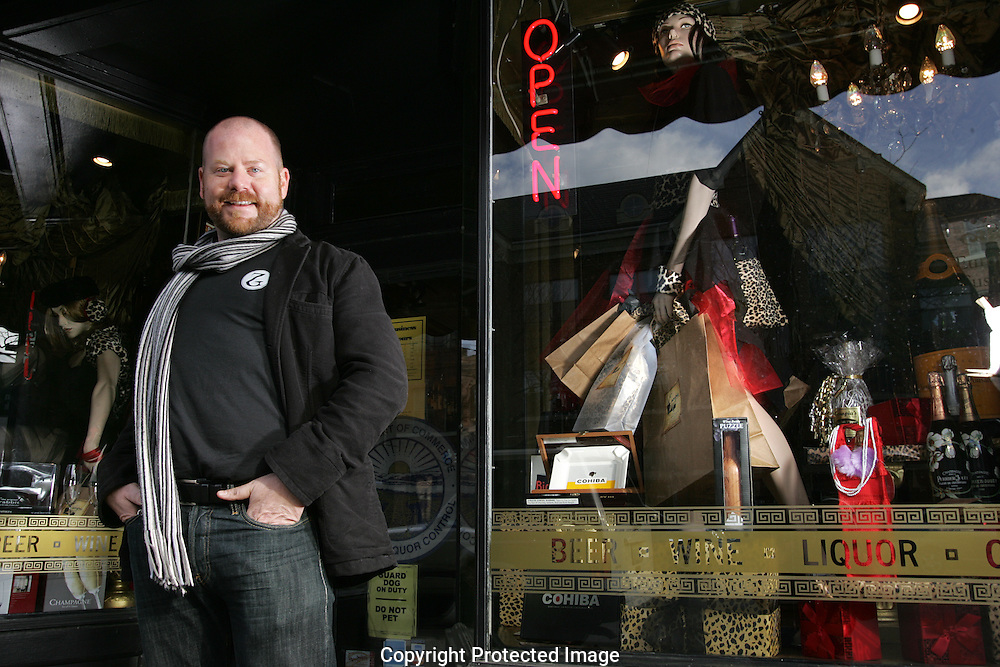 Joe Bauer of  Zen Genius, a visual merchandising specialist, will be decorating store windows for the holidays in the Short North.