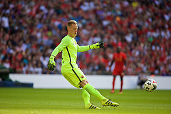 LONDON, ENGLAND - Saturday, August 6, 2016: Barcelona's goalkeeper Marc-André ter Stegen in action against Liverpool during the International Champions Cup match at Wembley Stadium. (Pic by Xiaoxuan Lin/Propaganda)