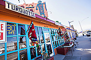 Shops in the Mojave desert town of Joshua Tree, California.