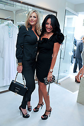 Left to right, ADELLA KING and MIMI LOWE at the opening of the new Melissa Odabash store in Walton Street, London SW3 on 7th July 2011.