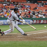 16 May 2007:  Atlanta Braves center fielder Andruw Jones (25) in action against the Washington Nationals.  The Nationals defeated the Braves 6-4 at RFK Stadium in Washington, D.C.  ****For Editorial Use Only****